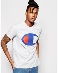 Champion White T-shirt With Large Logo for men