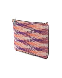 M Missoni - Pink Printed Flat Pouch - Coral - Lyst