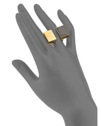 Chloé Bettina Black Agate Double Rectangle Ring
