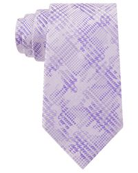 Sean John - Purple Houndsooth Plaid Tie for Men - Lyst