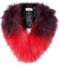 Yves Salomon   Purple Tipped Fur Collar   Lyst