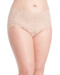 Hanky Panky | Natural Plus Size Retro Lace V-kini Panty | Lyst