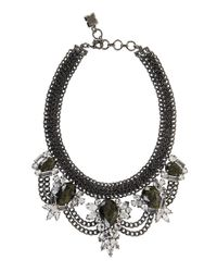 BCBGMAXAZRIA | Green Glitzy Statement Necklace | Lyst