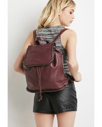 Forever 21 Purple Faux Leather Chained Backpack