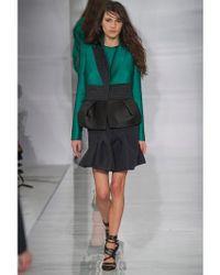 Antonio Berardi Green Nylon Jersey And Duchesse Dress