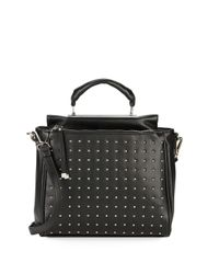 Steve Madden Black Benzo Studded Top-handle Bag