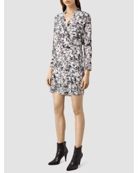 AllSaints Pink Walton Goya Dress