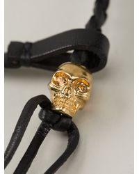 Alexander McQueen | Black Woven Skull Bracelet | Lyst