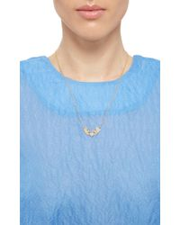 Sara Weinstock - Pink Rose Gold French Tulip Necklace - Lyst