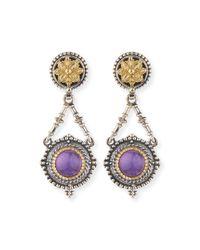 Konstantino Purple Silver & 18k Amethyst Dangle Earrings