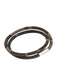 Tateossian | Metallic Camouflage Scoubidou Bracelet for Men | Lyst