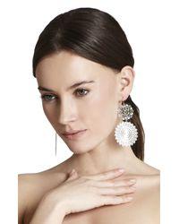 BCBGMAXAZRIA | Metallic Filigree Disc Earrings | Lyst