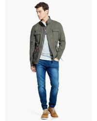 Mango Natural Cotton-Canvas Field Jacket for men
