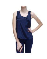 Giorgio Armani - Blue Top Sleeveless Silk - Lyst