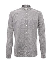 Oliver Spencer - Blue Navy Eton Collar Horizontal Stripe Cotton Shirt for Men - Lyst