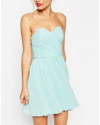 ASOS | Black Wedding Bandeau Mini Dress | Lyst