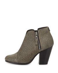 Rag & Bone - Metallic Margot Leather Ankle Boots - Lyst
