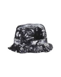 True Religion - Black Marble Dye Bucket Hat for Men - Lyst