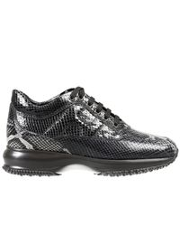 Hogan - Suede And Leather Platform Sneakers - Black - Lyst