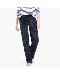 J.Crew Green Midnight Plaid Flannel Pajama Pant