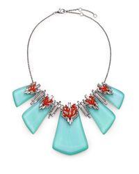 Alexis Bittar - Metallic Coral Deco Lucite, Enamel & Crystal Bedarra Articulated Bib Necklace - Lyst