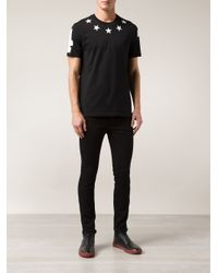 Givenchy Black Terry Cloth Star T-Shirt for men