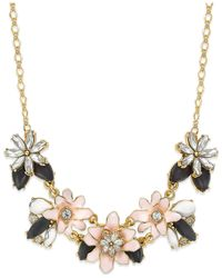 kate spade new york | Pink 12k Gold-plated Glossy Petals Mini Necklace | Lyst