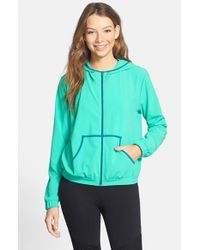 Lily White - Green Hooded Track Jacket - Lyst