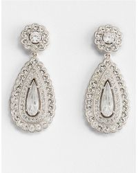 Nadri | Metallic Scalloped Tear Drop Earrings | Lyst
