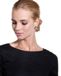 Ted Baker   Green Crystal Stud Earrings   Lyst