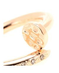 Roberto Marroni Red 18kt Gold Big Nail Ring With Diamonds
