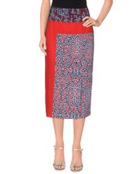 Class Roberto Cavalli Red 3/4 Length Skirt