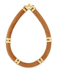 Lizzie Fortunato - Blue Double Take Suede Collar Necklace - Lyst