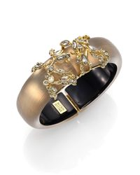 Alexis Bittar | Metallic Imperial Lucite & Crystal Lace Bracelet/Grey-Gold | Lyst