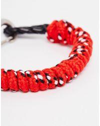Icon Brand - Red Half Mast Hook Bracelet for Men - Lyst
