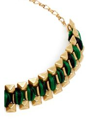 Ela Stone | Green Rowina Coloured Thread Stud Bracelet | Lyst