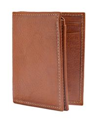 Trafalgar | Brown 'hawthorne' L-fold Wallet for Men | Lyst