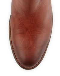 Frye | Brown Jackie Gore Ankle Boot Saddle | Lyst