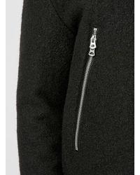 TOPMAN - Black Textured Wool Bomber for Men - Lyst