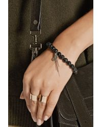 Chan Luu Black Horn And Diamond Charm Bracelet
