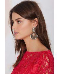Nasty Gal | White Celia Pearl Earrings | Lyst