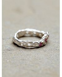 Free People - Pink Alexandra Dodds Womens Sunken Stones Ring - Lyst