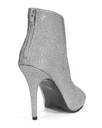 Caparros   Metallic Pavlova Peep Toe Booties   Lyst