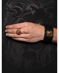 Versus - Metallic Lion Head Ring for Men - Lyst
