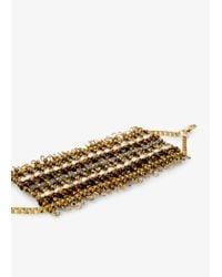 Mango - Metallic Metal Bead Bracelet - Lyst