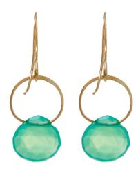 Melissa Joy Manning - Green Large Gold And Chrysoprase Single Drop Earrings - Lyst