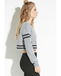 Forever 21 - Gray Civil Cropped Pullover - Lyst