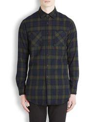 Fear Of God Multicolor Tartan Zip Back Flannel Shirt for men