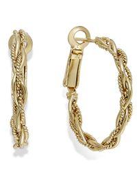 Macy's | Metallic Giani Bernini Woven Twist Hoop Earrings In 24k Gold Over Sterling Silver | Lyst
