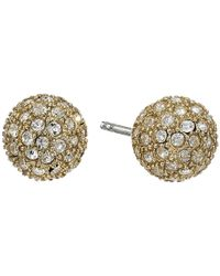 Fossil | Metallic Pave Ball Studs Earrings | Lyst